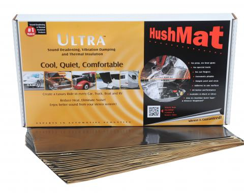 """HushMat Floor/Firewall Kit - Stealth Black Foil with Self-Adhesive Butyl-20 Sheets 12"""" x 23"""" ea 38.7 sq ft 10400"""