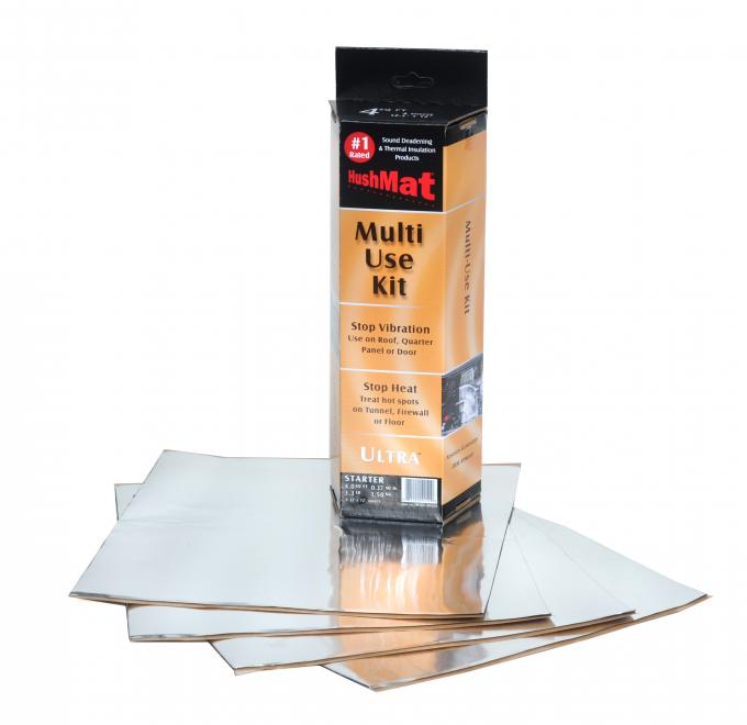 "HushMat Multi Use Kit - Silver Foil with Self-Adhesive Butyl-4 Sheets 12"" x 11"" ea 3.7 sq ft 10151"