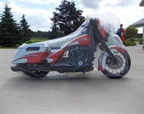 Motorcycle Cover, Disposable Clear, 5 Pack