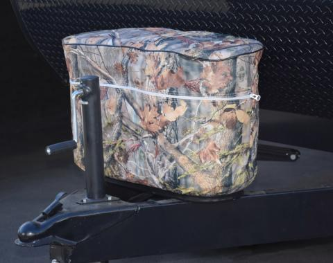 Adco Covers 2611, Propane Tank Cover, For Single 20 Pound - 5 Gallon Tank While Mounted, Weatherproof, Camouflage, Vinyl, With Access To Valve Through Velcro Closure, With Hollow Bead Welt Cord And Elastic Shock Cord