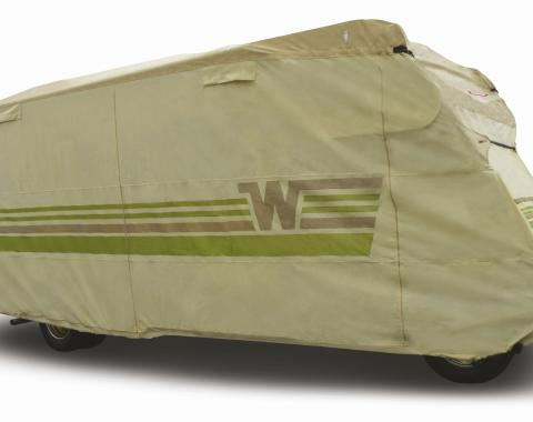 Adco Covers 64866, RV Cover, Winnebago (TM), For Class B Motorhome (All Era's), Fits 24 Foot Length Coach, All Weather Protection/ UV Resistant, Tan, Breathable Top With Multi-Layer Polypropylene Sides