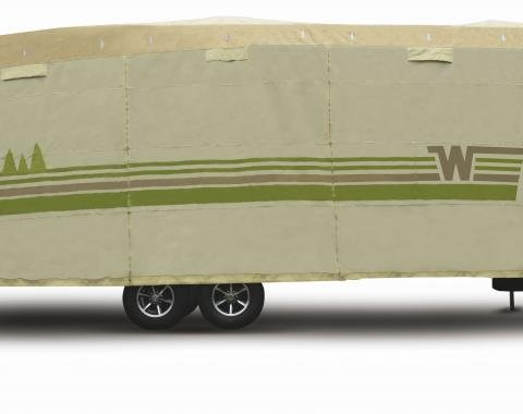 Adco Covers 64856, RV Cover, Winnebago (TM), For Fifth Wheel Trailers, Fits 34 Foot 1 Inch To 37 Foot Length Trailers, All Weather Protection/ UV Resistant, Tan, Breathable Top With Multi-Layer Polypropylene Sides