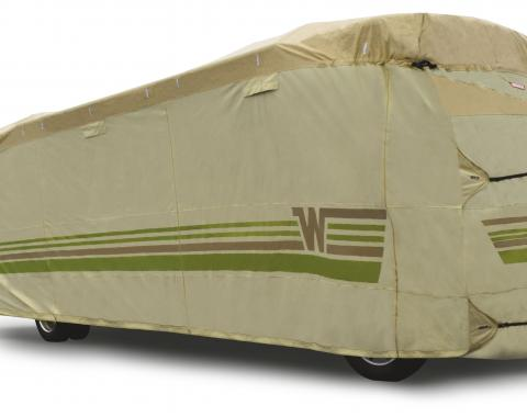 Adco Covers 64829, RV Cover, Winnebago (TM), For Class A Motorhome (All Via Models), Fits 26 Foot Length Coach, All Weather Protection/ UV Resistant, Tan, Breathable Top With Multi-Layer Polypropylene Sides