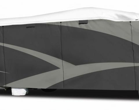Adco Covers 34814, RV Cover, Tyvek (R) Plus, For Class C Motorhomes, Fits 26 Foot 1 Inch To 29 Foot Length Coach, All Weather Protection, Breathable/ Water Resistant And Protects From UV Rays/ Rain/ Snow And Wind, Gray, Polypropylene Sides