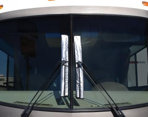 Adco Covers 2378, Exterior Mirror Cover, Universal, For Class A And Class C Motorhomes, Fits Mirrors Up To 18 Inch Height, Diamond Plated Steel Design, Vinyl, With Wiper Cover Set