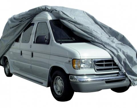 Adco Covers 12210, RV Cover, SFS AquaShed (R), For Class B Motorhomes, Fits Up To 19 Foot Length Vans With 24 Inch Bubble Roof Top, 240 Inch Length x 84 Inch Width x 84 Inch Height, Moderate Weather Protection, Breathable/ Resists High Humidity And UV Rays