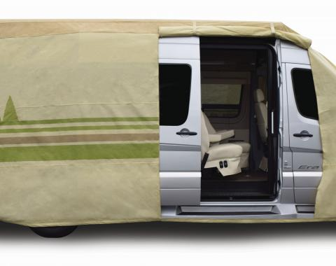 Adco Covers 64813, RV Cover, Winnebago (TM), For Class C Motorhome, Fits 23 Foot 1 Inch To 26 Foot Length Coach, All Weather Protection/ UV Resistant, Tan, Breathable Top With Multi-Layer Polypropylene Sides