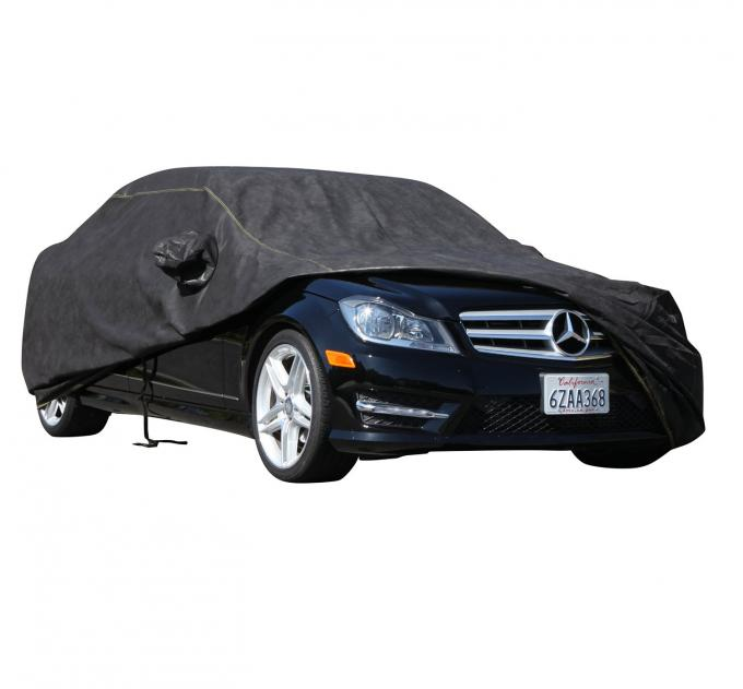 KIA SPECTRA Breathable Pro Series Car Cover, Black with Mirror Pockets, 2005-2009