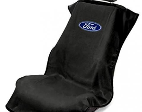 Seat Armour Ford Seat Towel, Black with Logo SA100FORB