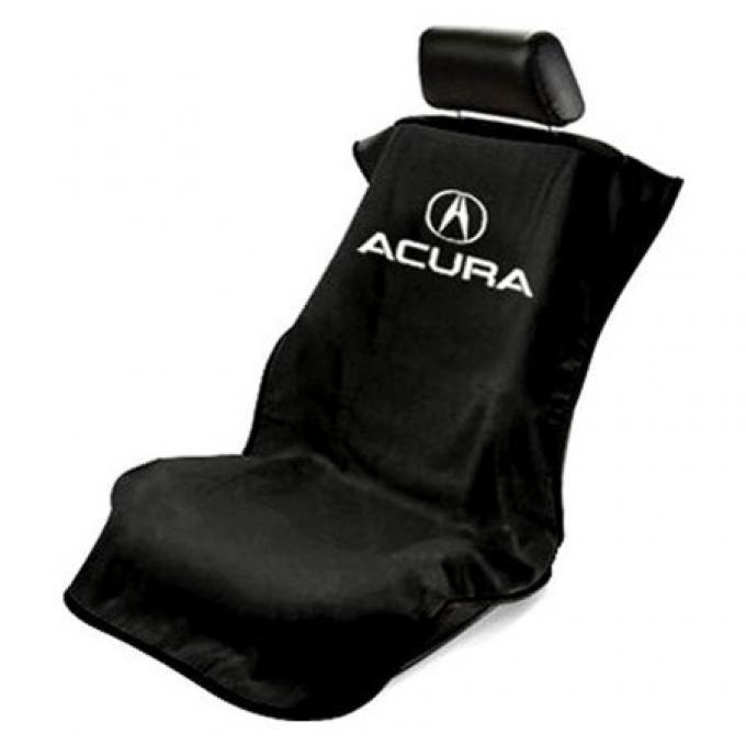 Seat Armour Acura Seat Towel, Black with Script SA100ACUB