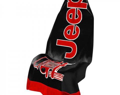 Seat Armour, Universal Towel2Go Jeep, Black/Red T2G100BR