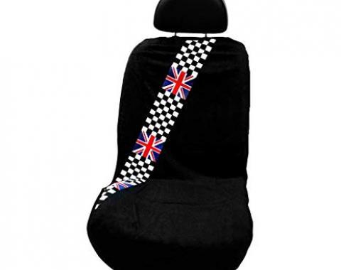 Seat Armour Checkered British Flag, Seat Towel, Black, SA100MINCHCK