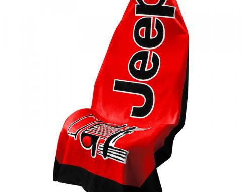Seat Armour, Universal Towel2Go Jeep, Red  T2G100R