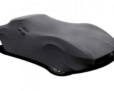 Corvette Car Cover, Onyx Satin Indoor, Black, 1968-1982