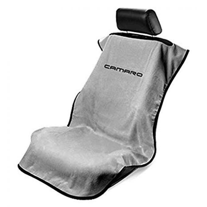 Seat Armour 2010-2019 Camaro Seat Towel, Gray with Camaro Script SA100NCAMG