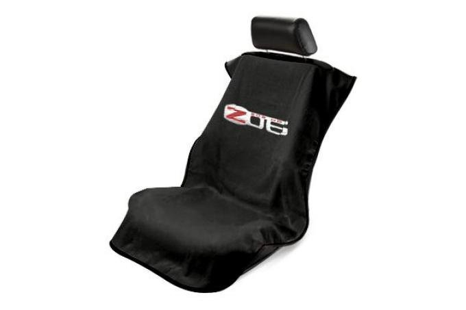 Seat Armour 2005-2013 Corvette Seat Towel, Black with Z06 Logo SA100CORZB