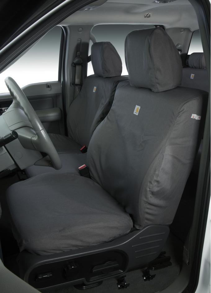 Covercraft 2016-2021 Toyota Tacoma Carhartt SeatSaver Custom Seat Cover, Gravel SSC8452CAGY
