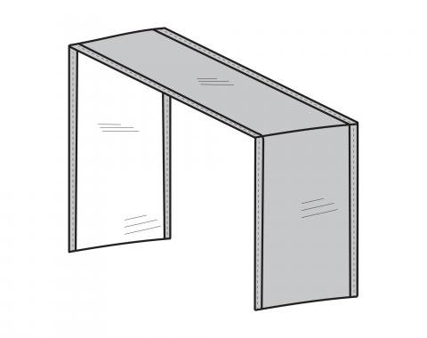 PCI Dura-Gard Outdoor Sectional Cover, Extension Piece Gray, 12W X 40D X 32H, 1260