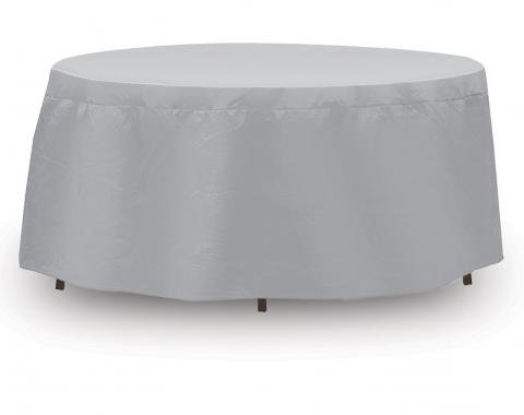 "PCI Dura-Gard Round Bar Table and Chair Cover, Gray, 48""-54"" Table with 4 Highback Chairs, with Umbrella Hole, 92W x 92D x 40H in., 1142"