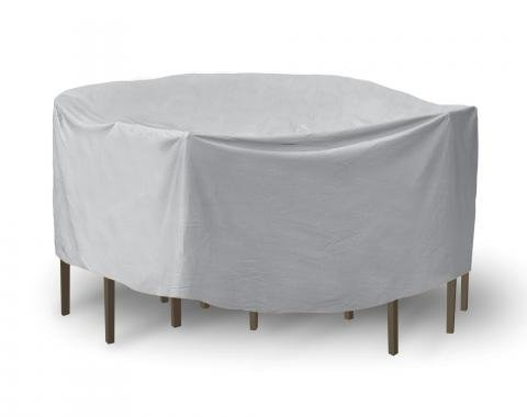 """PCI Dura-Gard Round Table and Chair Cover, Gray, 60"""" Table with 4 Chairs, 108W x 108D x 30H in., 1349"""