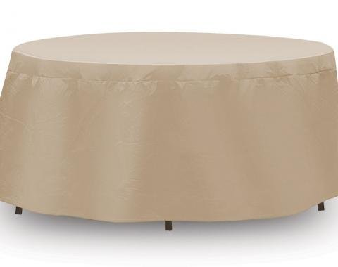 """PCI Dura-Gard Round Bar Table and Chair Cover, Tan, 48""""-54"""" Table with 4 Highback Chairs, 92W x 92D x 40H in., 1342-TN"""