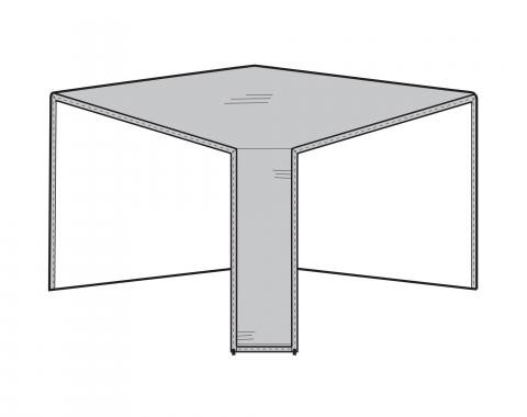 PCI Dura-Gard Outdoor Sectional Cover, Corner Piece Gray, 40W X 40D X 32H, 1252