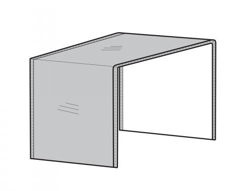 PCI Dura-Gard Outdoor Sectional Cover, Armless Center Piece Gray, 28W X 40D X 32H, 1258