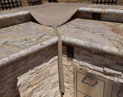 PCI Dura-Gard Outdoor Kitchen, Corner Piece Cover, Tan, 40L x 44W x 40H, 1424-TN