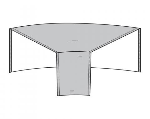 """PCI Dura-Gard Outdoor Sectional Cover, Sofa, Wedge Gray, Back 52""""W X Front  28""""W X 40""""D X 32""""H, 1250"""