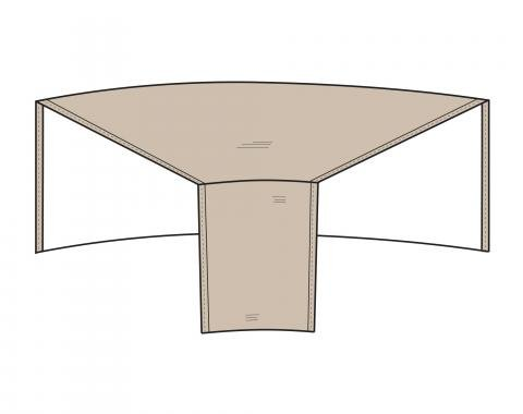 """PCI Dura-Gard Outdoor Sectional Cover, Sofa, Wedge Tan, Back 52""""W X Front  28""""W X 40""""D X 32""""H, 1250-TN"""