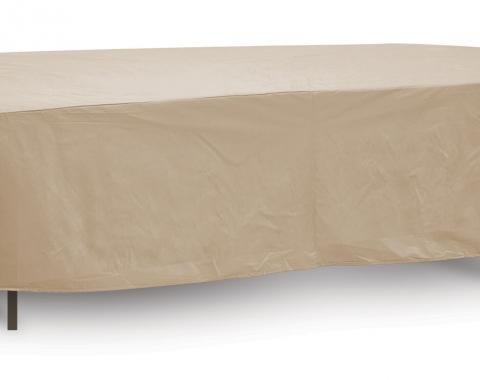 "PCI Dura-Gard Oval/Rectangle Table and Highback Chair Cover, Tan, 80""-96"" Table, 135W x 80D x 30H in., 1348-TN"