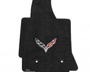 Lloyd Mats 2014-2019 Chevrolet Corvette Corvette 2014-on Coupe 3pc Mat Kit 2 Mats+Cargo Ebony Ultimat C7 Logo 600121