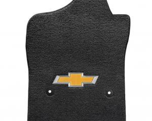 Lloyd Mats 2014-2018 Chevrolet Silverado 1500 Silverado 1500 2014-2018 Std Cab 2 Piece Front Ebony Ultimat Gold Bowtie Logo 600040