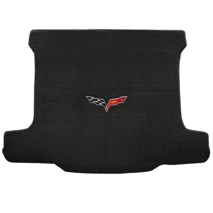 Lloyd Mats 2006-2013 Chevrolet Corvette Corvette 2006-2013 Z06 Cargo Mat Ebony Velourtex C6 Logo 620015