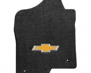 Lloyd Mats Silverado 2500/3500 2014 Dbl/crew 2 Piece Front Ebony Ultimat Gold Bowtie Logo 600043