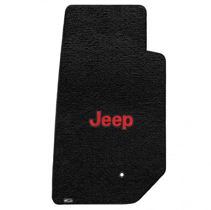 Lloyd Mats 2007-2013 Jeep Wrangler Jeep Wrangler Unlimited 2007-2013 2 Piece Front Black Ultimat Red Jeep Logo 600064