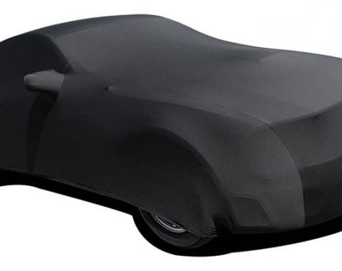 Mustang Car Cover Coupe or Convertible, Onyx Satin Indoor, Black, 2005-2017