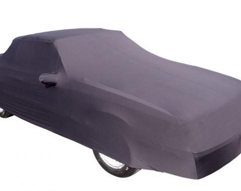 Mustang Car Cover Convertible, Onyx Satin Indoor, Black, 1986-1993