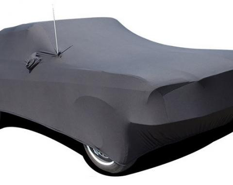 Mustang Car Cover Coupe or Convertible, Onyx Satin Indoor, Black, 1965-1968